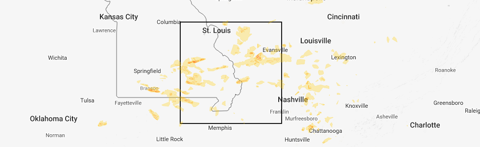 Interactive Hail Maps - Hail Map for Cairo, IL on