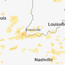 Regional Hail Map for Evansville, IN - Thursday, May 31, 2018