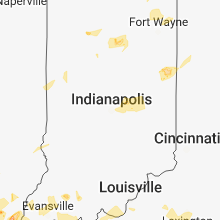 Regional Hail Map for Indianapolis, IN - Thursday, May 31, 2018