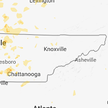 Regional Hail Map for Knoxville, TN - Thursday, May 31, 2018