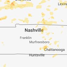 Regional Hail Map for Nashville, TN - Thursday, May 31, 2018