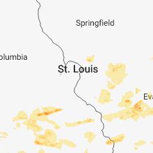 Hail Map for saint-louis-mo 2018-05-31