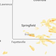 Regional Hail Map for Springfield, MO - Thursday, May 31, 2018
