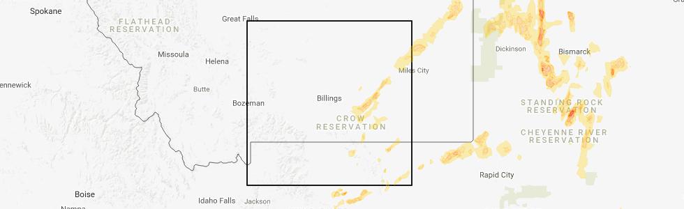 Hail Map for Billings, MT - Friday, June 1, 2018