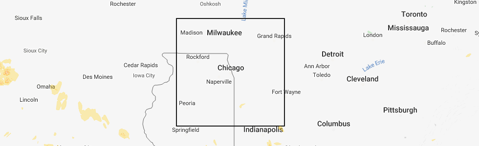 Hail Map for Chicago, IL - Friday, June 1, 2018