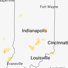 Regional Hail Map for Indianapolis, IN - Friday, June 1, 2018