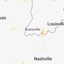 Regional Hail Map for Evansville, IN - Saturday, June 2, 2018