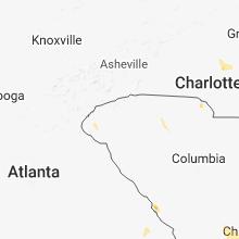Regional Hail Map for Greenville, SC - Saturday, June 2, 2018