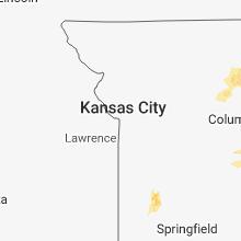 Regional Hail Map for Kansas City, MO - Saturday, June 2, 2018