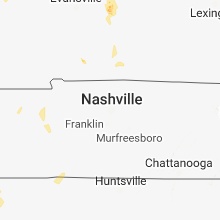 Regional Hail Map for Nashville, TN - Saturday, June 2, 2018