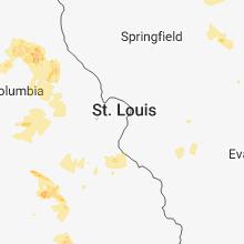 Hail Map for saint-louis-mo 2018-06-02