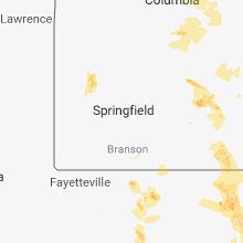 Regional Hail Map for Springfield, MO - Saturday, June 2, 2018