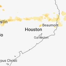 Regional Hail Map for Houston, TX - Sunday, June 3, 2018