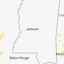 Regional Hail Map for Jackson, MS - Sunday, June 3, 2018