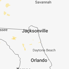 Regional Hail Map for Jacksonville, FL - Sunday, June 3, 2018