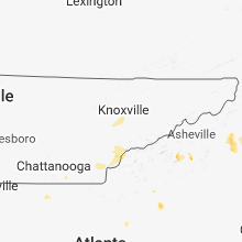 Regional Hail Map for Knoxville, TN - Sunday, June 3, 2018