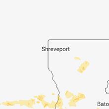 Regional Hail Map for Shreveport, LA - Sunday, June 3, 2018