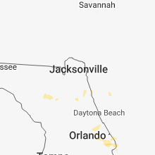 Regional Hail Map for Jacksonville, FL - Monday, June 4, 2018