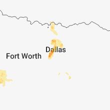 Regional Hail Map for Dallas, TX - Tuesday, June 5, 2018