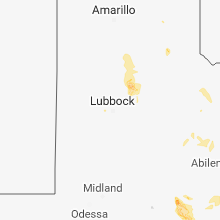 Regional Hail Map for Lubbock, TX - Tuesday, June 5, 2018