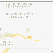 Regional Hail Map for Pierre, SD - Wednesday, June 6, 2018