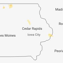 Hail Map for cedar-rapids-ia 2018-06-07