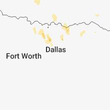 Regional Hail Map for Dallas, TX - Thursday, June 7, 2018
