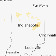 Regional Hail Map for Indianapolis, IN - Thursday, June 7, 2018
