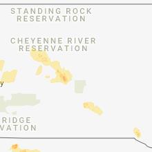 Regional Hail Map for Pierre, SD - Thursday, June 7, 2018