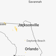 Regional Hail Map for Jacksonville, FL - Friday, June 8, 2018