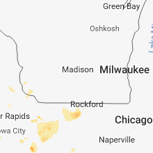 Regional Hail Map for Madison, WI - Friday, June 8, 2018