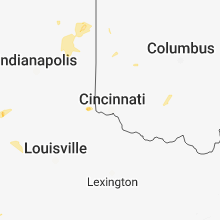 Regional Hail Map for Cincinnati, OH - Saturday, June 9, 2018