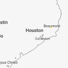Regional Hail Map for Houston, TX - Saturday, June 9, 2018