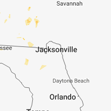 Regional Hail Map for Jacksonville, FL - Saturday, June 9, 2018