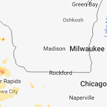 Regional Hail Map for Madison, WI - Saturday, June 9, 2018