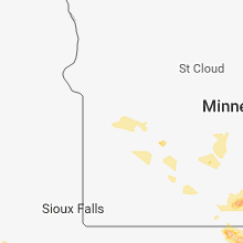 Regional Hail Map for Montevideo, MN - Saturday, June 9, 2018