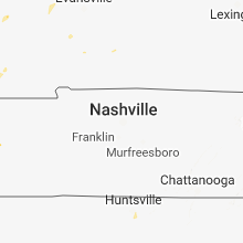 Regional Hail Map for Nashville, TN - Saturday, June 9, 2018