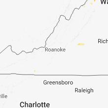 Regional Hail Map for Roanoke, VA - Saturday, June 9, 2018