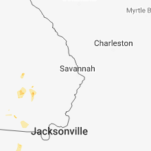Regional Hail Map for Savannah, GA - Saturday, June 9, 2018