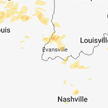 Regional Hail Map for Evansville, IN - Sunday, June 10, 2018