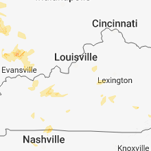 Regional Hail Map for Louisville, KY - Sunday, June 10, 2018