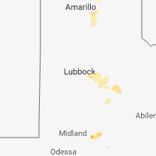 Regional Hail Map for Lubbock, TX - Sunday, June 10, 2018
