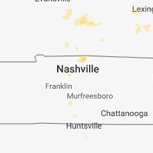 Regional Hail Map for Nashville, TN - Sunday, June 10, 2018