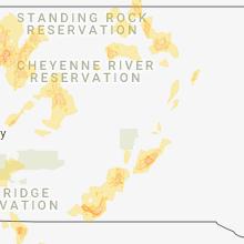 Regional Hail Map for Pierre, SD - Sunday, June 10, 2018
