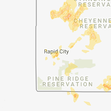 Regional Hail Map for Rapid City, SD - Sunday, June 10, 2018