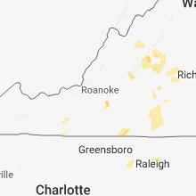 Regional Hail Map for Roanoke, VA - Sunday, June 10, 2018