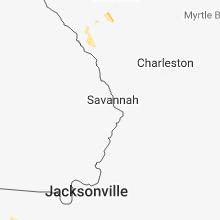 Regional Hail Map for Savannah, GA - Sunday, June 10, 2018