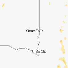 Regional Hail Map for Sioux Falls, SD - Sunday, June 10, 2018