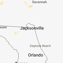 Regional Hail Map for Jacksonville, FL - Monday, June 11, 2018