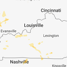 Regional Hail Map for Louisville, KY - Monday, June 11, 2018